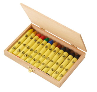 Put it in your mouth is a safe natural material. Beeswax (propolis, beeswax) crayons 12 color wooden box with 10P01Sep13