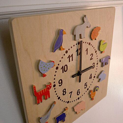 子ども部屋の楽しい演出!時計「ヤーン動物」【楽ギフ_包装】【楽ギフ_のし】★あす楽対応★