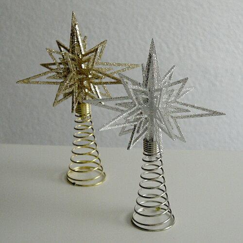 【クリスマス用品】3Dグリッターシャープスターツリートップ[ Christmas:クリスマス ]★お一人様一回限り使えるクリスマスクーポン★ご利用ください♪