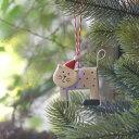 【クリスマス用品 】 ブリキ オーナメント:ティンファンシーキャット[ Christmas:クリスマ...