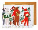 【クリスマス用品・飾って素敵なカード】【MeriMeri】森...