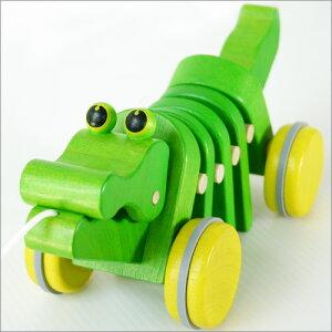【ベビー向けおもちゃ】ワニのかわいい引き車ダンシン
