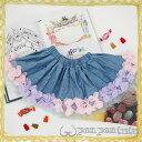 panpantutu/パンパンチュチュお花のフェアリースカート/ライトデニム/Sサイズ(0〜2、3歳頃) ベビー 女の子