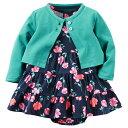 カーターズCarter's 正規品 ワンピース ロンパース カーディガン 女の子ベビー服 ネイビー お花