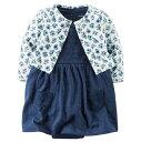 カーターズCarter's 正規品 ワンピース ロンパース カーディガン 女の子ベビー服 ネイビー レース フラワー
