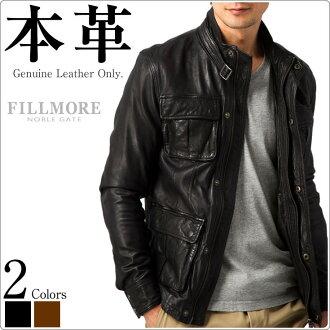 老式 M-65 場夾克雪橇皮革 SFJ01A 夾克外套皮革夾克皮革吉恩夾克皮革夾克甲板的皮夾克冷工作夾克