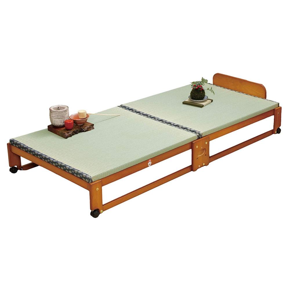 中居木工 畳ベッド ソファカバー シングル カウチ らくらく折りたたみ式