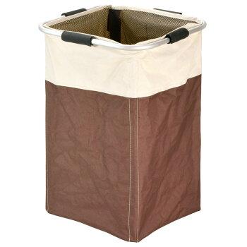 【フレックスランドリーバッグSQ】容量48L!ポリエステル製で耐久性のあるランドリーバッグ!洗濯物を入れるのに最適な大きさ!使わないときは折りたたんで場所を取らないどんな場所にも合う落ち着いたツートンカラー!