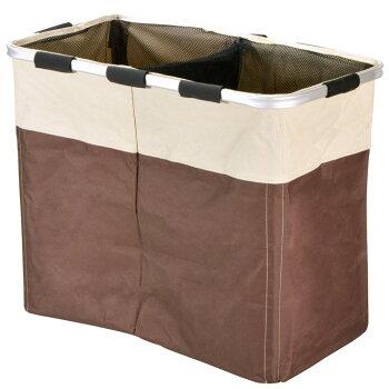 【フレックスランドリーバッグWP】容量90L!ポリエステル製で耐久性のあるランドリーバッグ!洗濯物を入れるのに最適な大きさ!ダブルポケットタイプで分別も可能!折りたためば場所を取らないどんな場所にも合う落ち着いたツートンカラー!
