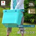 クーラーボックス 日本製 保冷 28L 28リットル アウトドア レジャー バーべキュー 海水浴 キャンプ 行楽 ピクニック コンパクト 軽量 ランチボックス 釣り フィッシング ペットボトル
