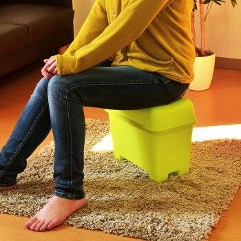 【コンテナチェアーS】灯油缶スツールイス椅子収納ボックスボックス収納フタ付きおもちゃボックスおもちゃ箱おもちゃ入れ座れるフィット食品バス用品踏み台座れる収納隠して座るチェアーかわいいカラフル伸和シンワ10P30Nov14