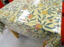 人気のウィリアムモリス北欧生地テーブルクロス フルーツ3(撥水の透明ビニールクロスがセットになってお手軽)