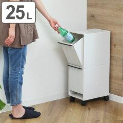 分別ゴミ箱 資源ゴミ 分別ワゴン 2段 25L