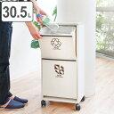 分別ゴミ箱 資源ゴミ 分別ワゴン 2段 ワイド( ごみ箱 ゴミ箱 分別 ダストBOX くずかご ダストボックス )