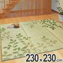 ラグ い草 裏貼り コクリコ 230×230cm 約3畳分 ...