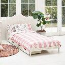 【ポイント最大17倍】フレンチカントリー風のかわいいベッド ベッドフレーム 木製