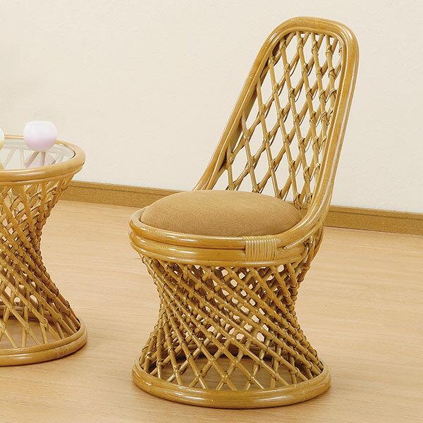 籐〔ラタン〕 チェアー  送料無料( 椅子 イス アジアン ) 【ポイント最大35倍】籐の丸芯をスパイラルのように絞り込んだデザインが美しく目を引く籐製のチェアーです。スタイル小説