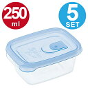 保存容器 スマートフラップ 角 SS 250ml 5個入 ( ラストロ プラスチック保存容器 食品 保存 シール容器 )