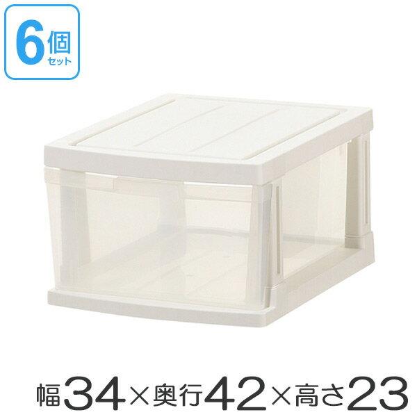 クローゼット収納ケース 深型ストッカー 1段 6個組 ( 送料無料 収納ボックス プラスチ…...:livingut:10020496
