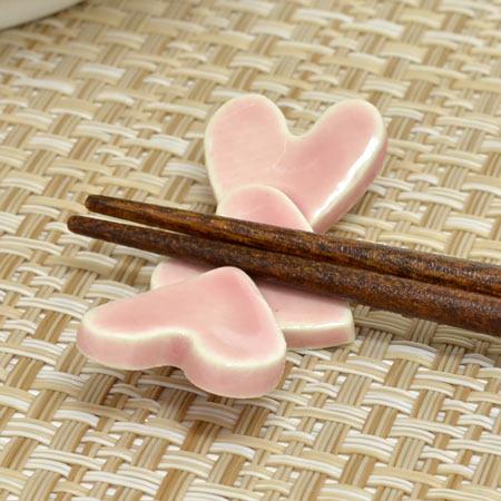 箸置き カタコトハート ピンク ( 箸おき はし...の商品画像