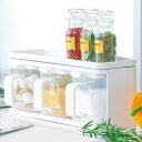 調味料入れ DELI クッキングケース 3個組 ( キッチン収納 キッチン 収納 調味料ラック 調味料ケース スパイスラック 収納ラック 調味料 容器 )