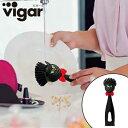 vigar(ビガール) フェリックス ディッシュブラシ ブラック WANTED ( キッチンたわし ブラシ 掃除 シンク たわし 台所用スポンジ 食器用 クリーナー ねこ 猫 ネコ 黒猫 ウォンテッド )
