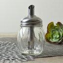 調味料入れ シュガーディスペンサー シュガーポット 丸型 175ml ガラス製 ( 砂糖入れ 砂糖つぼ 調味料容器 調味料ボトル シュガーボトル 砂糖ポット 瓶 )
