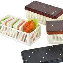 お弁当箱 サンドイッチケース Have a Lunch ドット ランチベーカリー 折りたたみ式 ( ランチボックス おにぎり おむすび 弁当箱 バスケット おしゃれ かわいい 日本製 木調 )