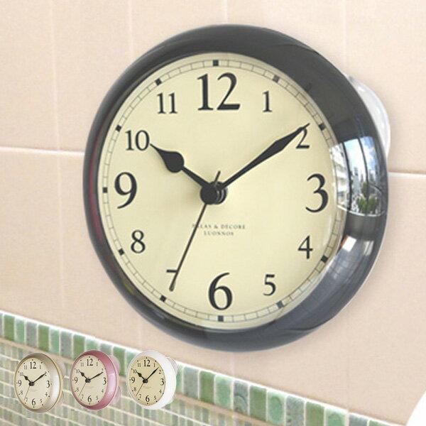 RoomClip商品情報 - お風呂 時計 スタンド&ウォールシャワークロック ディシェル ( 防水 風呂 バスクロック 浴室 防滴 吸盤 バス用品 スタンド 置き型 クロック )