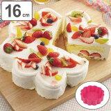 ケーキ型 焼き型 16cm ハートケーキ6個 フラワー型 シリコン製 ( シリコンケーキ型 シリコン型 製菓道具 シリコーン製 シャローハートケーキ型1/6 お菓子作り )