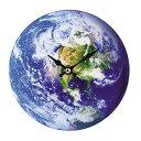 掛け時計 置き時計 卓上ガラス時計 ROUND 17cm Earth 地球 ( アナログ 時計 壁掛け時計 インテリア 雑貨 おしゃれ 掛時計 とけい クロック ガラス 置掛兼用 卓上 置き掛け ウォールクロック )