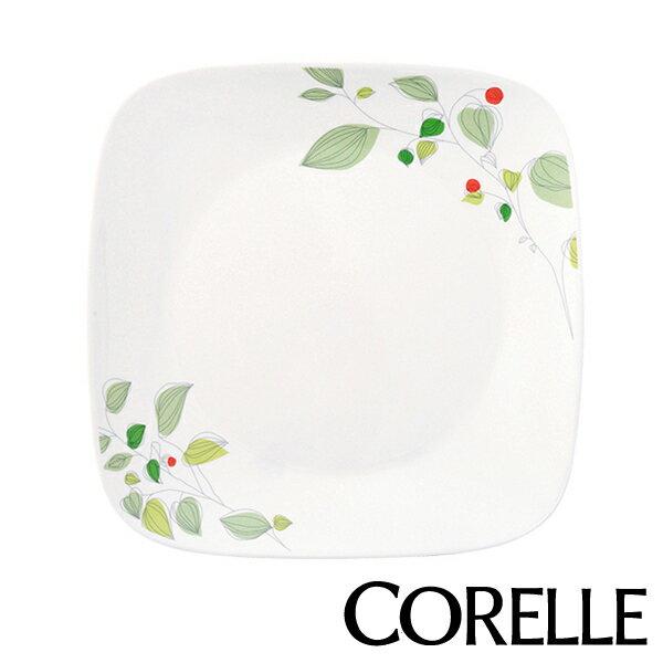 プレート23cmコレールCORELLEスクエア白食器皿角皿グリーンブリーズ(食洗機対応ホワイト電子レ