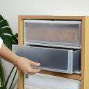 収納ケース ポスデコ ワイドサイズ 深型2段 カラーボックス用 ( 収納ボックス カラーボックス インナーボックス 引き出し 小物収納 収納用品 ワイドタイプ プラスチック 小物入れ 小物ケース レターケース インボックス )