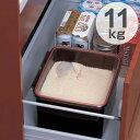 米びつ ライスボックス システムキッチン用 10kg対応タイプ 黒色 ( ライスストッカー 米櫃 保存 保管 シンク 流し下 米 キッチン 引き出し 収納 11kg こめびつ )