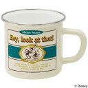 マグカップ ホーローマグ ミッキーマウス ホワイト ホーロー製 ( ホーローマグカップ 琺瑯 ほうろう ホーローコップ ホーロー ミッキー ディズニー 白 )