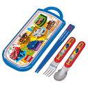 トリオセット 箸・フォーク・スプーン トミカ スライド式 キャラクター ( 食洗機対応 子供用お箸 カトラリー フォーク スプーン TOMICA )