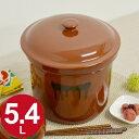 漬物容器 切立かめ 3号 5.4L 蓋付き 陶器 ( 漬物樽 つけもの容器 漬け物容器 ぬか漬け 漬けもの 漬物器 かめ 壺 保存容器 )