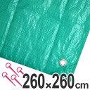 レジャーシート ジャンボシート 行楽シート 4.5畳 2.6×2.6m グリーン ( レジャーマット ピクニックシート ストッパー付き ピクニックマット 敷物 大きい 広い )
