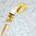 シャワーヘッド 節水 塩素除去 マイナスイオンCシャワー イエロー アラミック ( 送料無料 シャワー 節水シャワー 水圧アップ 水圧 増圧 節水シャワーヘッド 塩素 除去 マイナスイオン 水流調整 風呂 バスルーム リフォーム )