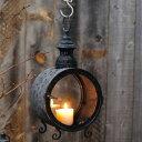 【ポイント最大17倍】ブリキ素材に細かいカッティング、灯をともせば美しい光が漏れる キャンドルホルダー ランプ ろうそく立て