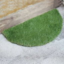 玄関マット 屋外 GRASS MAT HALF ROUND ( 屋外用マット 芝生マット グラスマット エントランスマット 人工芝 ラウンド )