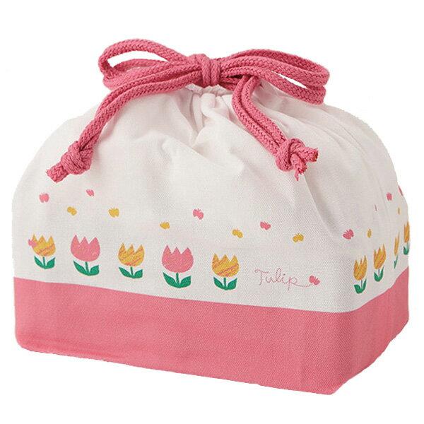 お弁当袋ランチ巾着チューリップ子供用日本製(給食袋巾着袋弁当袋ランチボックス巾着子供キッズ子ども子供