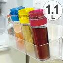 冷水筒 スリムジャグ 1.1L 横置き 縦置き ( ピッチャー 冷水ポット 麦茶ポット キッチン用品 水差し 耐熱 1リットル )
