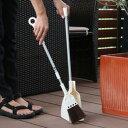ほうき 柄付き ちりとり セット ベランダ用 伸縮 ( 屋外 コンパクト 箒 掃除 チリト