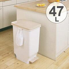 ゴミ箱 ふた付き セパ スリムペダルペール 47L