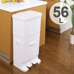 ゴミ箱 分別 セパ ツイン ペダルペール 2段 56L