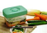 没有Omoshi!泡菜的简易装置。 3型简易泡菜的角落单位妈咪[即席漬け物器 マミー角3型( 漬物 浅漬け 容器 漬物樽 プラスチック )]