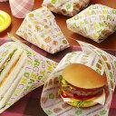 ハンバーガー&サンドイッチ シート 24枚入 ( 包装紙 ハンバーガー袋 ペーパー ラッピングシート...