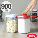 OXO オクソー ポップコンテナ スモールスクエア ショート 900ml ( 保存容器 密閉 プラスチック 透明 調味料容器 ストッカー キッチン用品 調味料入...