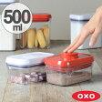 OXO オクソー ポップコンテナ レクタングル ミニ 500ml ( 保存容器 密閉 プラスチック 透明 調味料容器 ストッカー キッチン用品 調味料入れ 乾物ストッカー オクソ オクソーポップコンテナ コンテナ 調味料 収納 スタッキング ) 10P23Apr16
